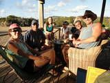On the deck at Mad Dog