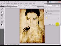 Photoshop tutorial italiano - Ritratto su carta antica - YouTube