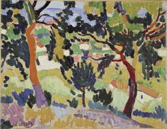 L'Estaque, 1906 , by Andre Derain Andre Derain, Henri Matisse, Raoul Dufy, Modern Artists, French Artists, Paul Cezanne, Garden Painting, Painting & Drawing, Art Fauvisme