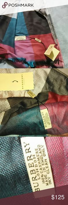 """BURBERRY Cashmere SCARF This SCARF is 76"""" x 28"""". Sorry that it's wrinkled, I misplaced it and it wasn't stored properly.  Please view ALL photos. BURBERRY Accessories Scarves & Wraps"""