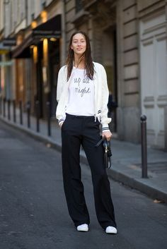 [original_tittle] – Marko Šurla I [pin_tittle] Paris Street Style Spring 2015 – Best Street Style Paris Fashion Week Business Casual Dress Code, Business Outfit, Business Formal, Business Fashion, Bomber Jacket Outfit, Hoodie Outfit, Sweatpants Outfit, Sporty Chic Outfits, Sport Outfits
