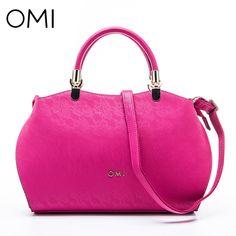 OMI Women's handbags Women's bag Female's genuine leather handbag famous designer brand bags luxury designer shoulder bags Tote