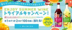 夏も「ギュギュッと搾ったサングリア」を楽しもう! ENJOY SUMMER WINE トライアルキャンペーン