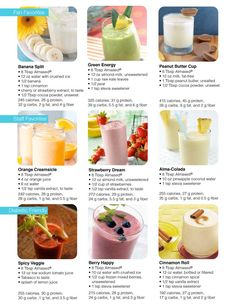 Check out a few of our Almased shake ideas. What are some of yours? #almasedshakes...