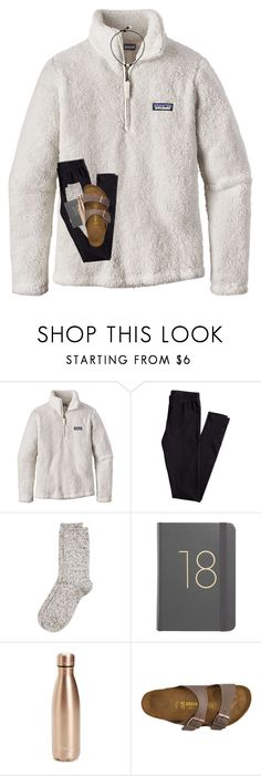"""happy sunday :)"" by preppy-southerngirl ❤ liked on Polyvore featuring Patagonia, H&M, River Island, S'well and Birkenstock"