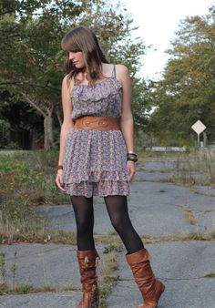 A summery dress for fall
