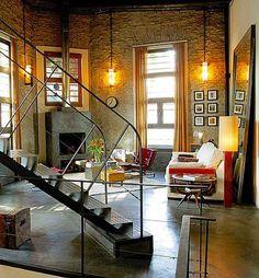 ideas y trucos para decorar la casa : Cómo Decorar con un Toque Cálido Ambientes de Estilo Industrial Caro