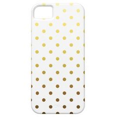White Gold Polka Dot iPhone 5/5S Covers #white #polkadot #polkadots #pattern #gold #yellow #iphonecase #iphonecover