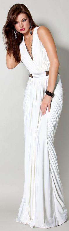 Elegant modern Greek dress #grecian #gown #wedding