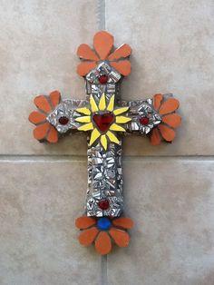 Mosaic cross by NM artist Susanne Baca