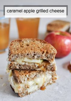 Showcase all the wonderful flavors of fall in one terrific sandwich! This Caramel Apple Grilled Cheese is great for lunch or dinner.