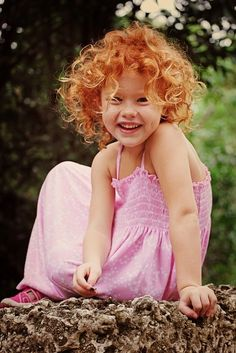red hair, dimples, so cute!