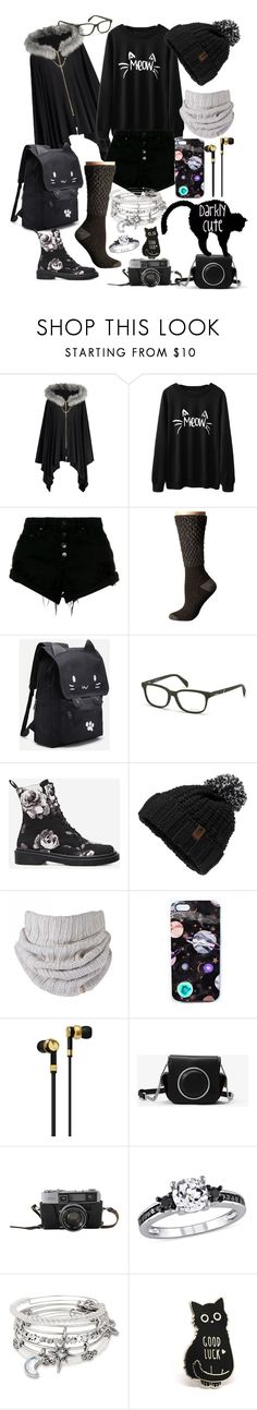 """Darkly Cute"" by luciel-blanke ❤ liked on Polyvore featuring Nobody Denim, Smartwool, Diesel, The North Face, Nikki Strange, Master & Dynamic, MICHAEL Michael Kors and Alex and Ani"