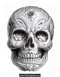 Dia De Los Muertos Tattoos_11.jpg 540×700 pixels