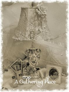 ~VINTAGE LACE LAMPSHADE TUTORIAL FOR YOU~