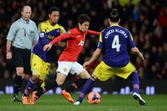 Manchester United's Japanese midfielder