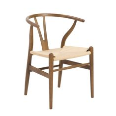 Euro Style Evelina Side Chair (Set of 2) in Walnut/Rush