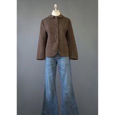 Vintage Tweed Blazer - 50s Jacket - Green & Brown Wool Blazer - 1950s Jacket - 50s Blazer - Womens Suit Jacket - Tweed Jacket - Wool Jacket