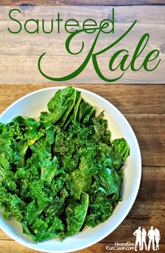 Sauteed kale. We used olive oil instead of coconut. This was delicious and the kale turned just a little crispy, which was perfect! Will make again! *Family regular*