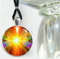 Chakra Art Handmade Necklace Reiki Jewelry Psychedelic Light