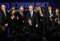 Israel's Prime Minister Netanyahu waves to supporters at the Likud party headquarters in Tel Aviv WHAT Israeli Elections Mean for obama 12-8-14 by DG In most countries immigration moves electorate to left in Israel Immigration moved country to the Right.