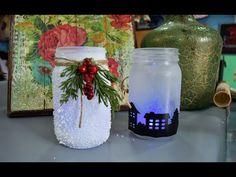DIY FRASCOS de Vidrio adornos🎄 Navideños #FACIL #RAPIDO #ECONOMICO - YouTube Christmas Cards To Make, Christmas Diy, Bottle Vase, Glass Vase, Diy Glasses, 242, Interior Design Living Room, Handicraft, Decoupage
