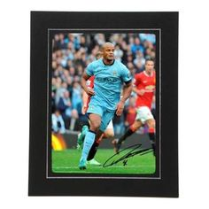 Manchester City   Manchester City Single Players Photo   Signed Memorabilia