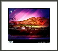 Starry Night Desert Framed Print By Holley Jacobs