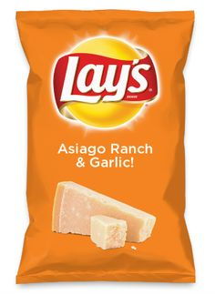Wouldn't Asiago Ranch & Garlic! be yummy as a chip? Lay's Do Us A Flavor is back, and the search is on for the yummiest flavor idea. Create a flavor, choose a chip and you could win $1 million! https://www.dousaflavor.com See Rules.
