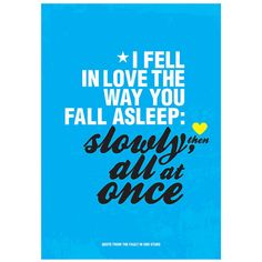 The Fault in Our Stars quote inspired by John by PeanutoakPrint