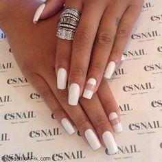 Beautiful white nails inspiration