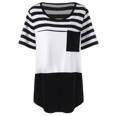 GET $50 NOW   Join Dresslily: Get YOUR $50 NOW!http://m.dresslily.com/plus-size-long-stripe-pocket-t-shirt-product2013705.html?seid=lU9AdfGlG1n4bn37OG9QnIAU4K