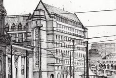 Manchester Town Hall Drawing