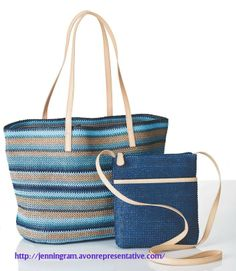 We're loving our Riviera Goddess Bag Set for your next summer getaway! http://avon4.me/1uCQQpC