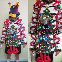 52cc49f7c25 Festive Frock Tacky Ugly Christmas Sweater Hodge Podge of Christmas