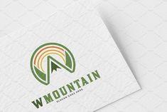 Letter W Mountain Logo Template by meisuseno on @creativemarket Logo Design Template, Logo Templates, Mountain Logos, Letter W, Best Logo Design, Cool Logo, Best Logo