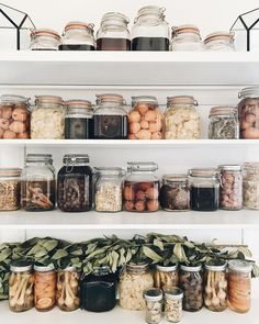 Bulk dry goods stored in Le Parfait and mason jars for a zero waste, plastic-free pantry | Zero waste pantry and kitchen inspiration | Bulk is beautiful