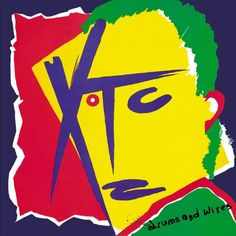 """""""Drums and Wires"""" XTC album cover art Power Pop, Lp Cover, Cover Art, Vinyl Cover, Art Furniture, Lps, Steven Wilson, Virgin Records, Logo"""
