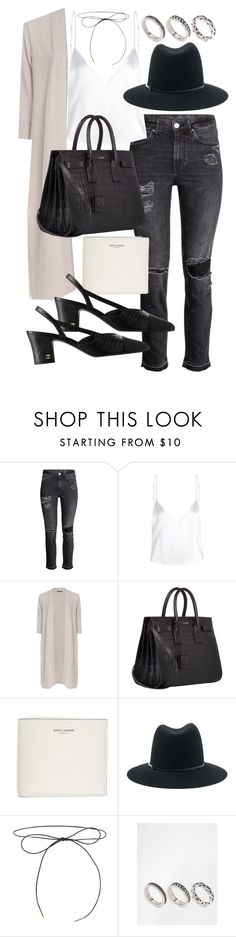 """""""Untitled #20351"""" by florencia95 ❤ liked on Polyvore featuring Boohoo, Yves Saint Laurent, Janessa Leone and ASOS"""