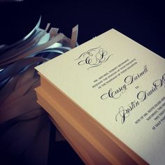foil stamped wedding invitations created at Chic Ink