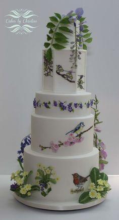 A Country Wedding Wedding Cake Pops, Tea Party Wedding, Cool Wedding Cakes, Beautiful Wedding Cakes, Gorgeous Cakes, Wedding Cake Designs, Amazing Cakes, Wedding Ideas, Birthday Cake With Flowers