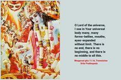 Bhagavad Gita Bhakti Yoga Eyes Life The Universe Mouths Krishna Consciousness Middle