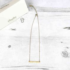 Orelia Gold Coloured Five Heart Bar Necklace Available At Pink Cadillac Instore And Online www.pinkcadillac.co.uk