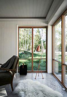 Villa Jakobsson, Gnisvärd – M. Room Interior Colour, Interior Design, Ship Lap Walls, California Homes, Cozy Cottage, Living Room Grey, Interior Architecture, Building A House, Home Remodeling