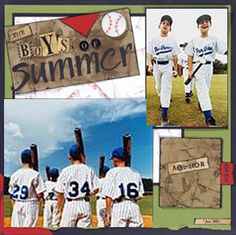 Baseball Scrapbooking Ideas - Scrapbooking Ideas