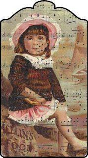 Shoregirl's Creations ~ Printable Vintage Girl Music Tag
