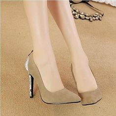Women's Shoes Pointed Toe Stiletto Heel Flocking Heels Shoes More Colors available – GBP £ 16.38