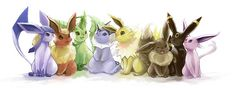 evolutions of eevee... not including sylveon