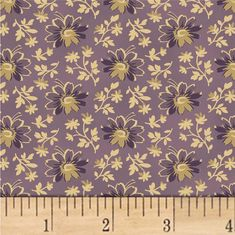 Nancy Gere Shiloh C.1880 Flower Heads Purple from @fabricdotcom Designed by Nancy Gere for Windham Fabrics, this cotton print fabric features a 1880 reproduction design and is perfect for quilting, apparel, and home decor accents. Colors include shades of purple and cream.