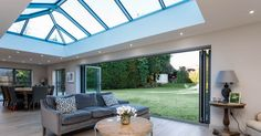Roof Lanterns, Bi-Fold Doors and Glass Dividers. Unrivalled in bringing natural daylight to your home. Sky Lanterns, Roof Lantern, House Extension Plans, Side Extension, Extension Ideas, Kitchen Diner Extension, Kitchen Extension Glass Roof, Orangery Extension Kitchen, Roof Architecture